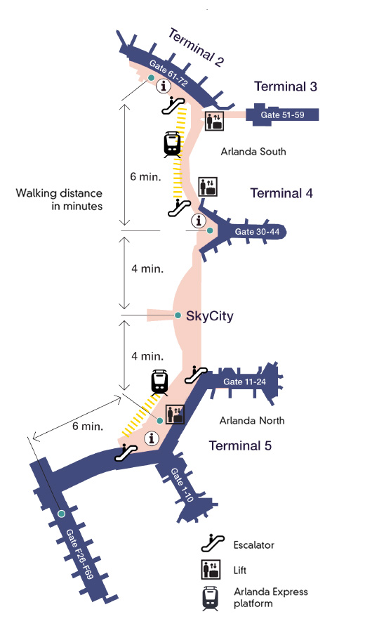 Map of Arlanda airport - en