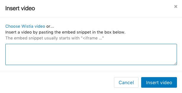 Shopify insert video