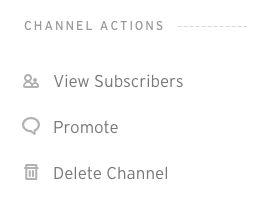 Channel Actions