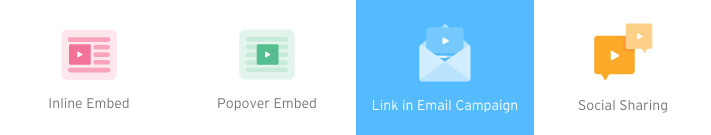 link in email campaign selected in embed and share menu