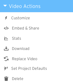 Video Actions all permissions