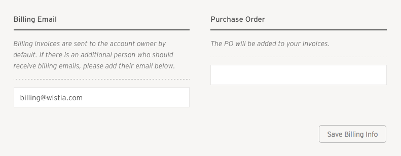 Purchase Order field