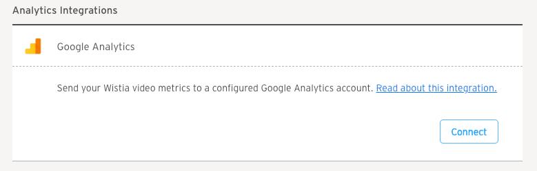 Google Analytics Connect Integration