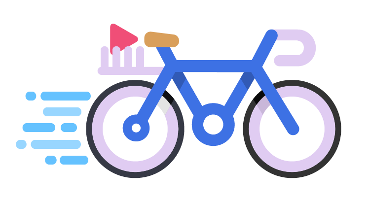 Illustration of a blue bike