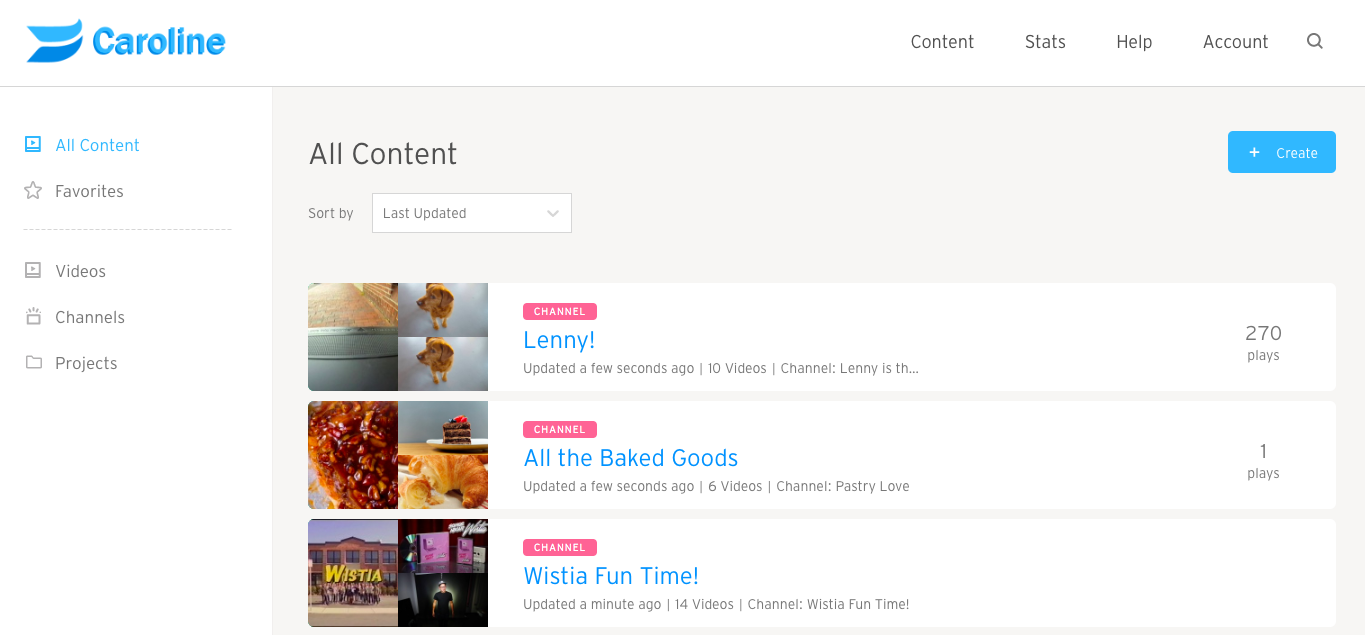 All Content Page
