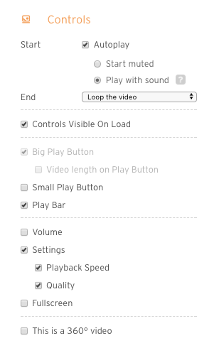 screenshot of controls panel in customize