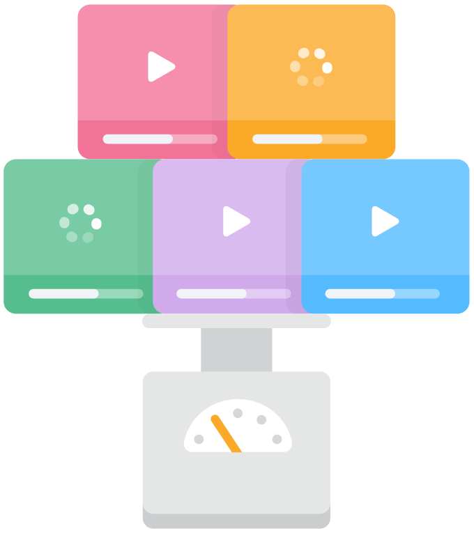 illustration of loading videos