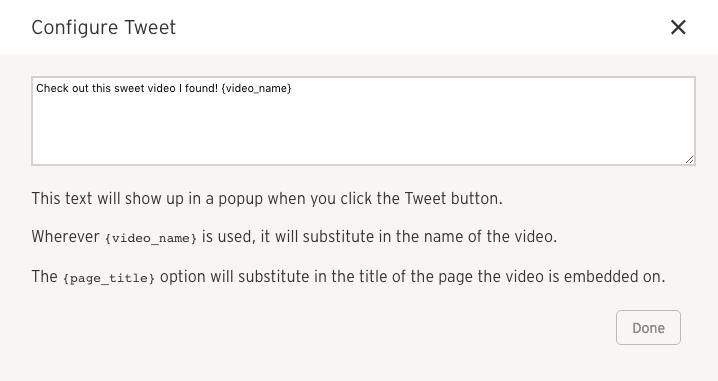 configure tweet text