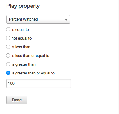 HubSpot Play Property percentage options