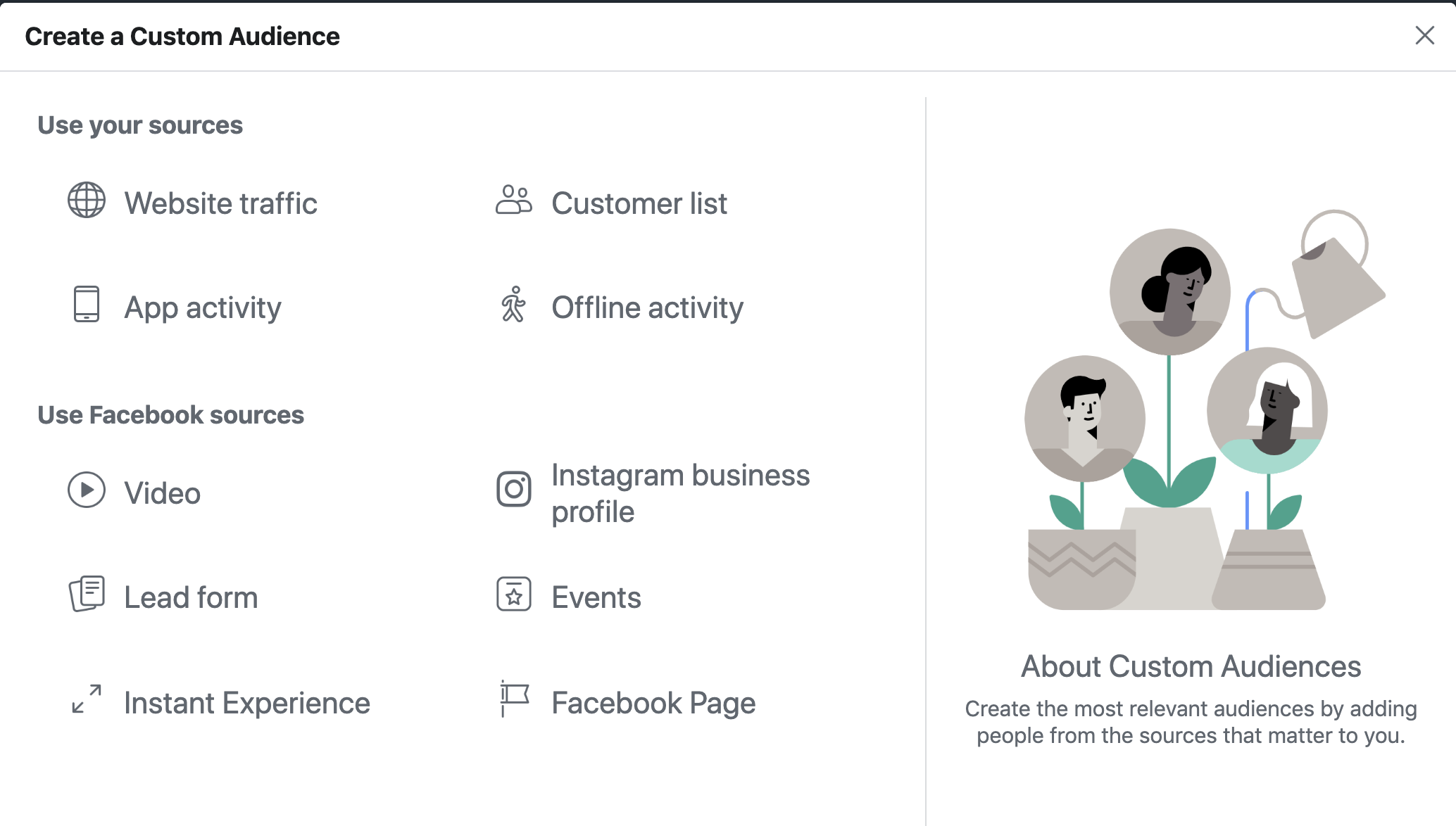 5. Navigating your Facebook Audience Tool