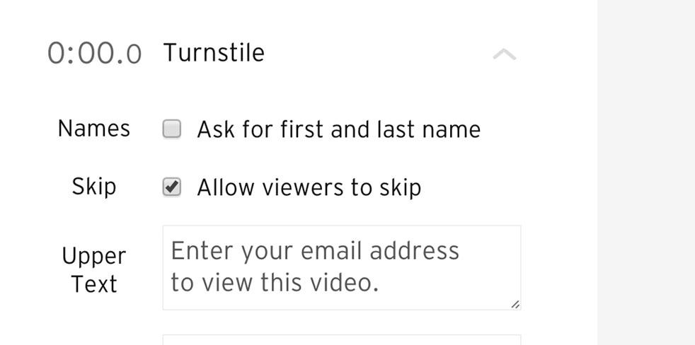 Turnstile option to skip