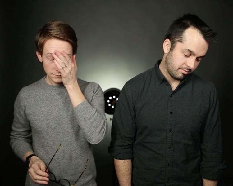 Brendan and Chris looking downcast