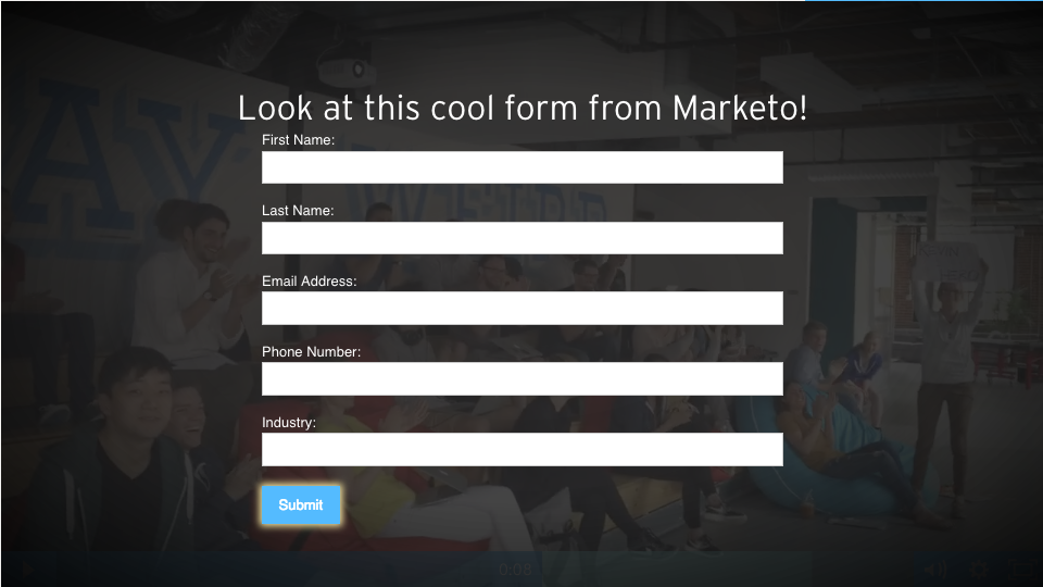 marketo video form