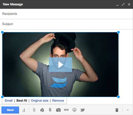 Resize thumbnail image in gmail