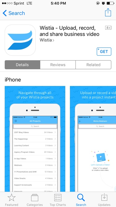 app store wistia download