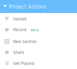 Project actions a viewer's perspective