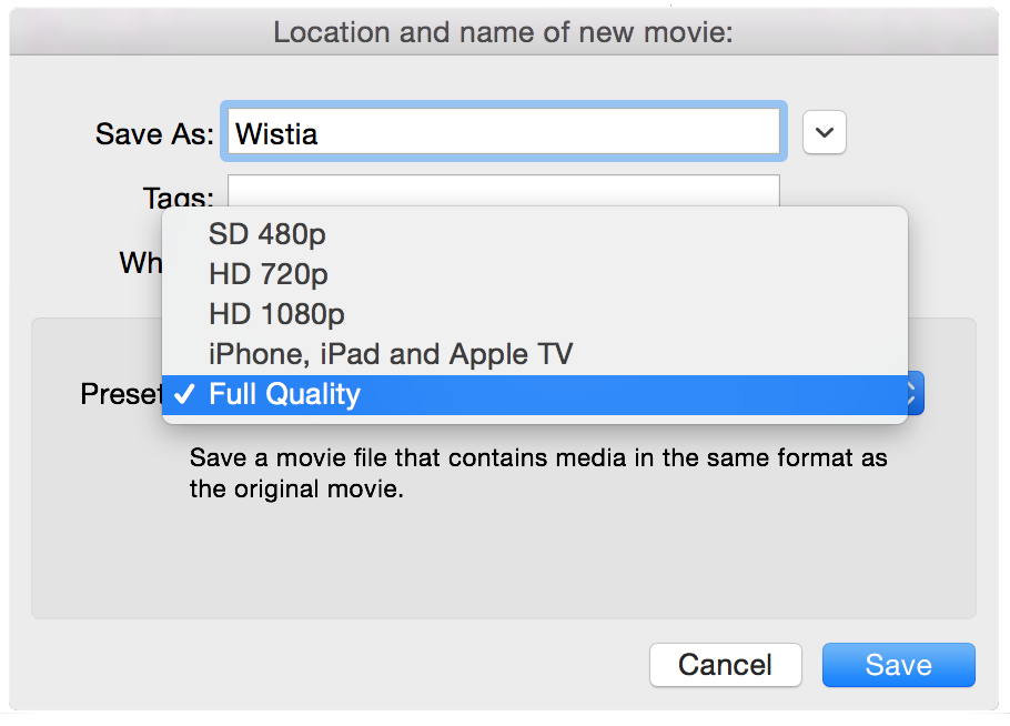 Exporting Guide — Support — Wistia