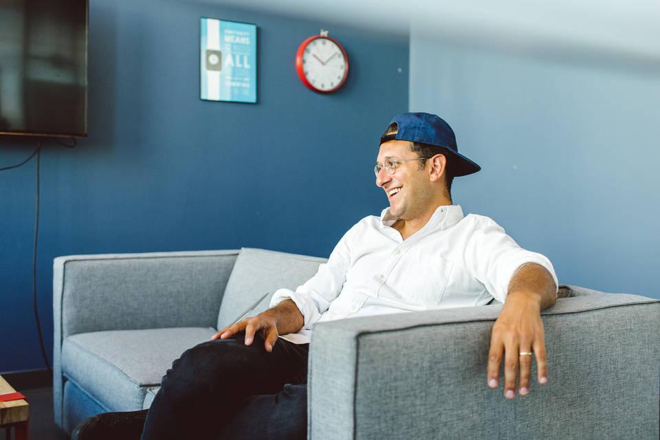 Dan in a baseball cap