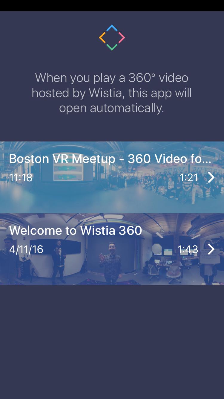 Wistia 360 app