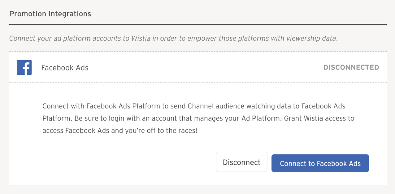 1. Connect to Facebook Ads