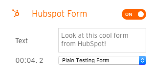 HubSpot v2 edit form text