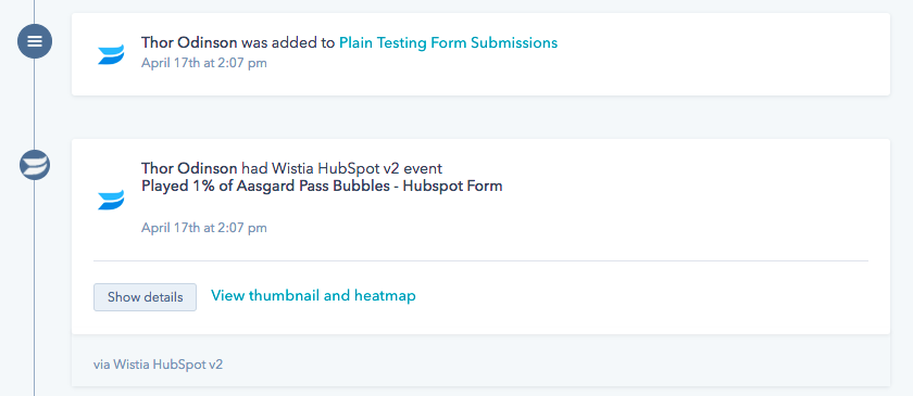 HubSpot segmenting viewing behavior