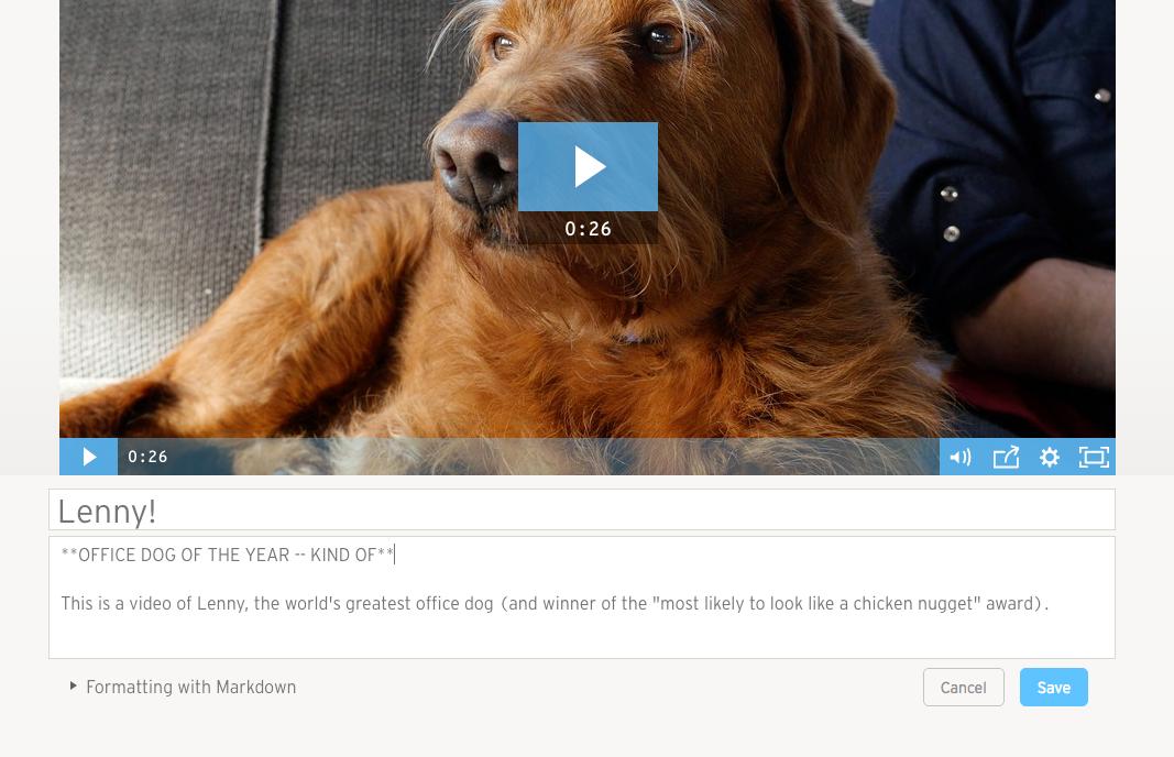File Management edit video description