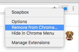 Soapbox- Remove from Chrome in dropdown menu