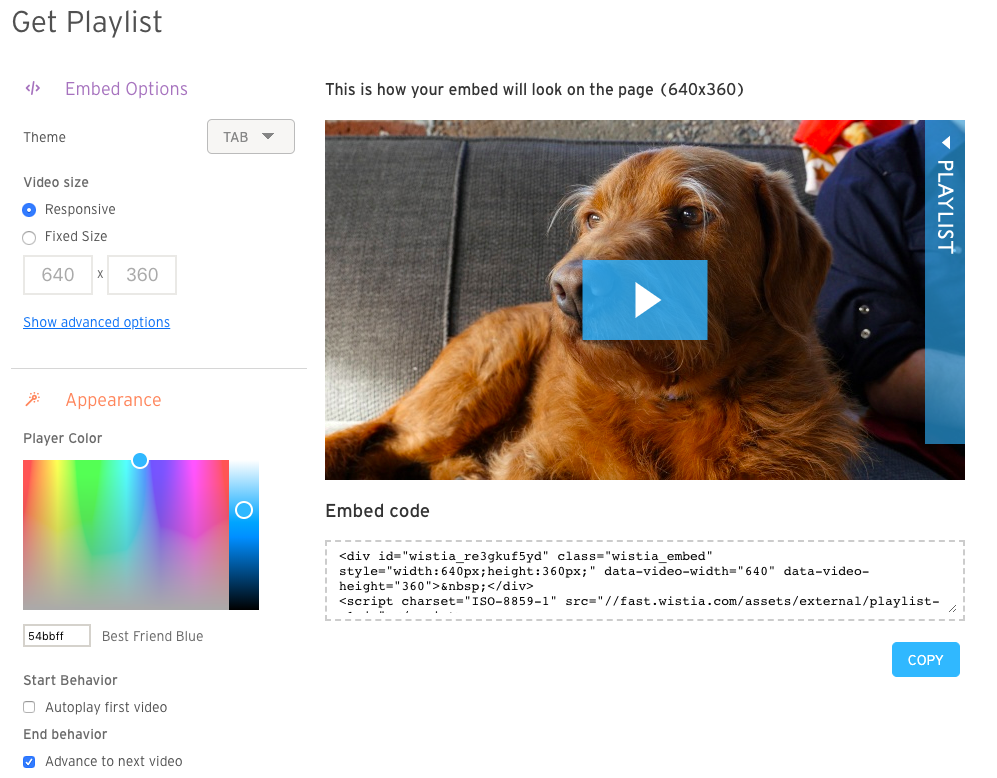 Wistia Video Playlists (Deprecated) — Support — Wistia