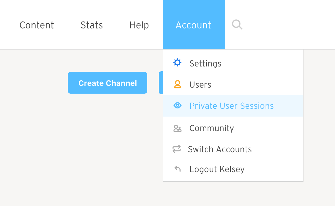 Private User Sessions