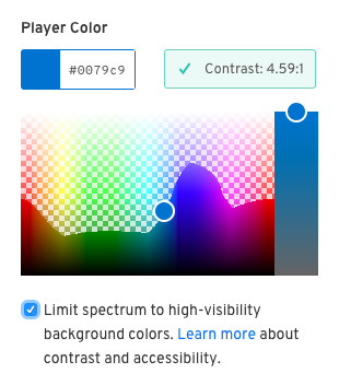Accessible Colorpicker - limited spectrum