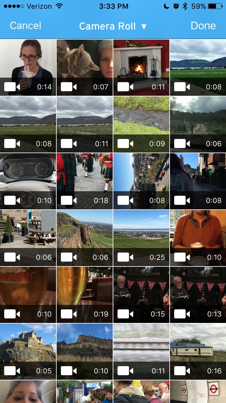 wistia app camera roll