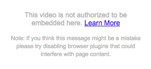 This video is not authorized to be embedded here
