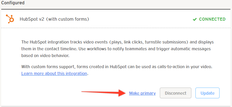 HubSpot Make Primary Button