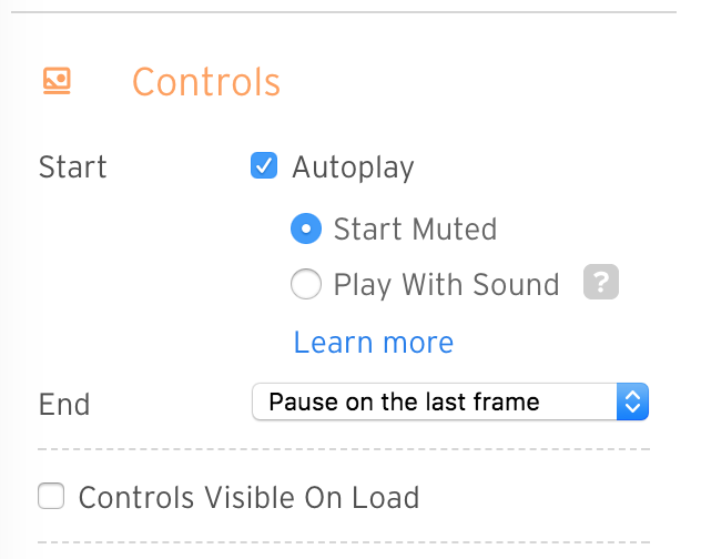 screenshot of autoplay section in controls panel