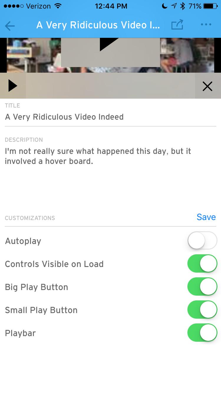 wistia app video view