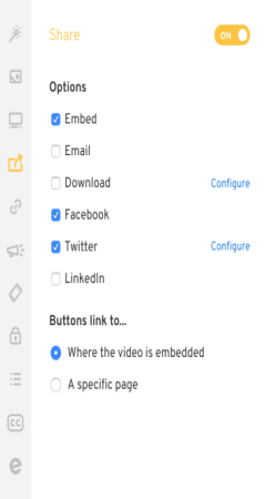 Customize your video v3 - share