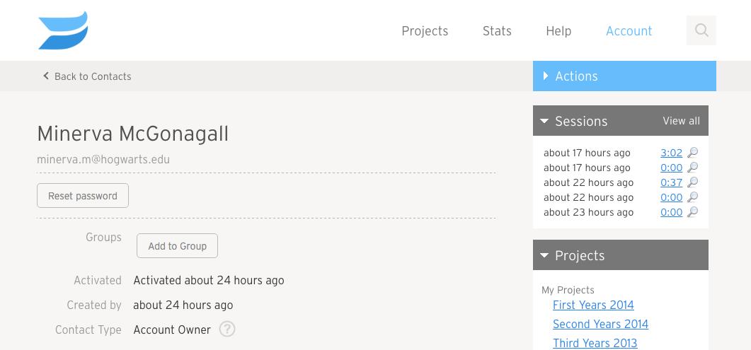 Using groups private user profile