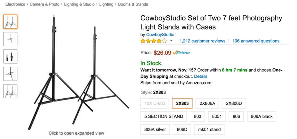 Cowboy Studio Light Stands