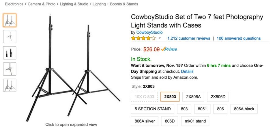 Cowboy Studio Light Stands