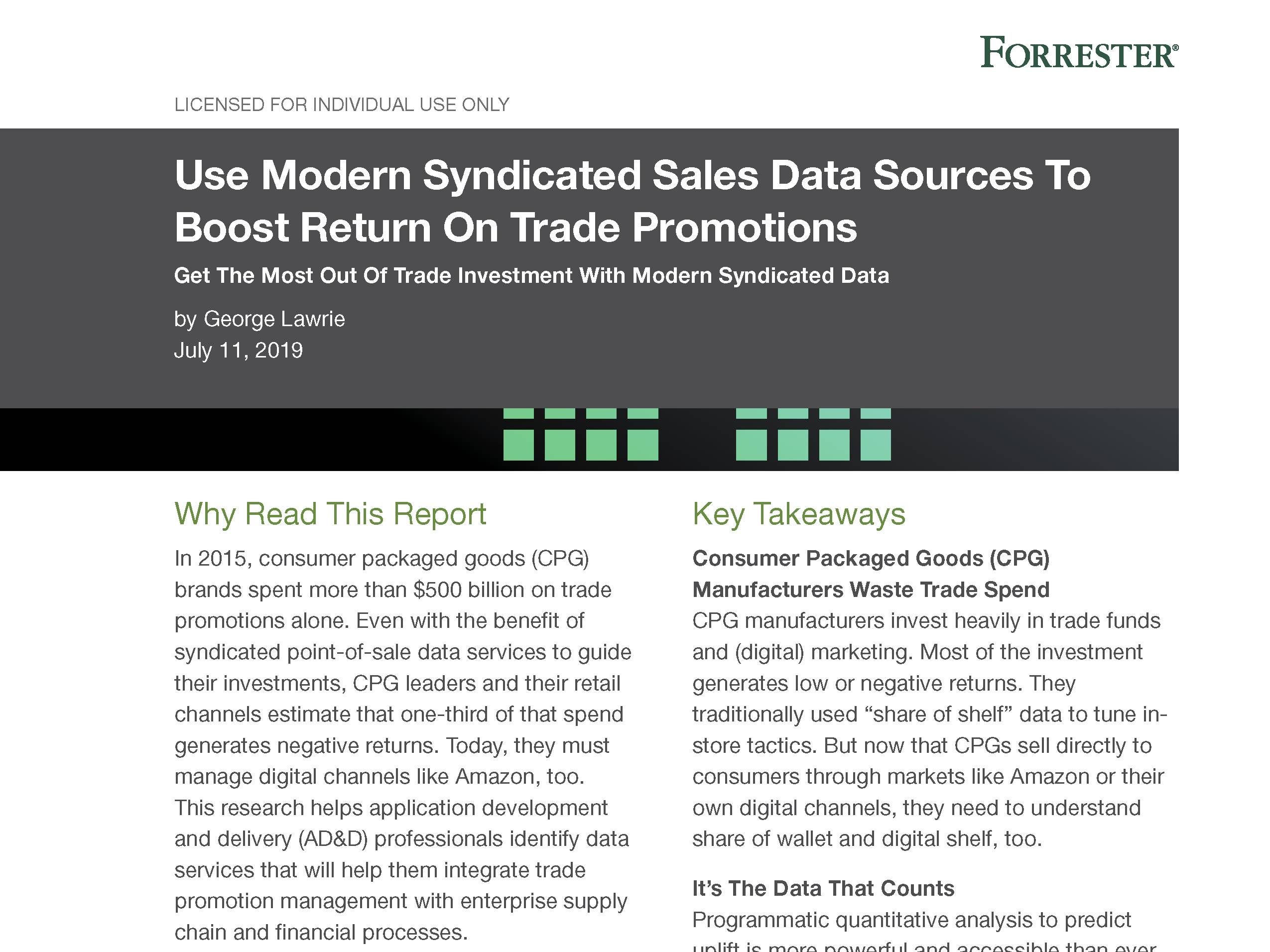 Use Modern Syndicated Sales Data Sources To Boost Return On Trade Promotions