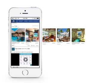 Facebook Dynamic Ads for Travel example mobile