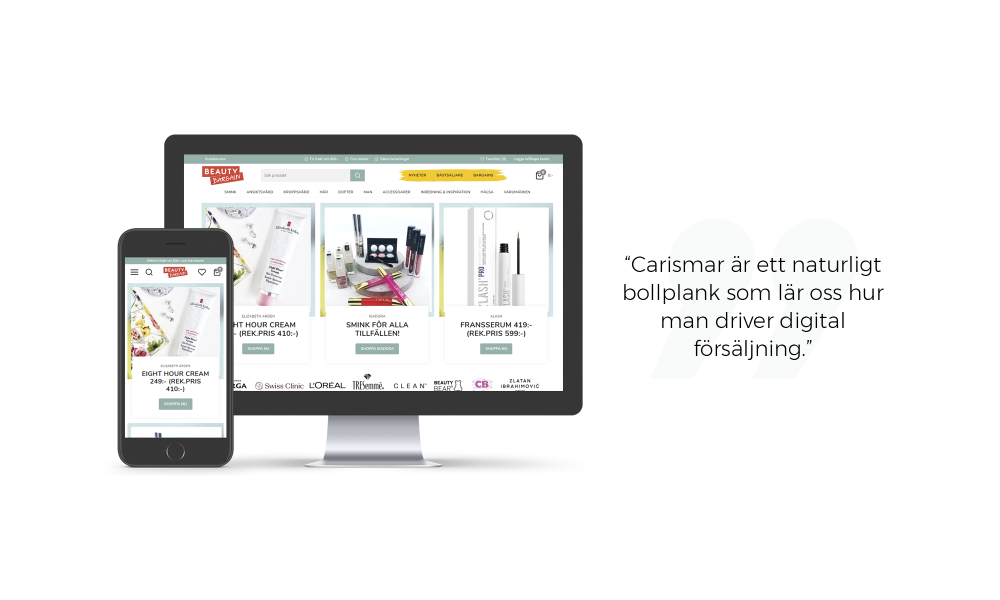 beauty bargin e-handelsplattform