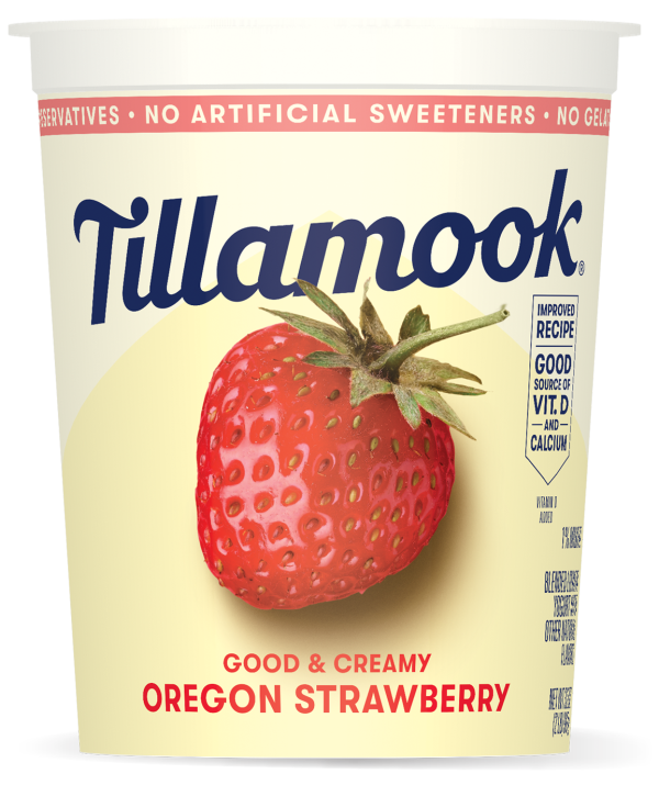 Oregon Strawberry Lowfat Yogurt Tub