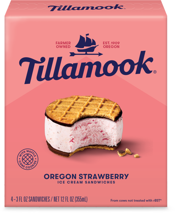 Oregon Strawberry Ice Cream Sandwich