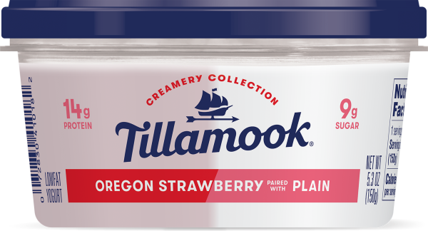 Oregon Strawberry paired with Plain