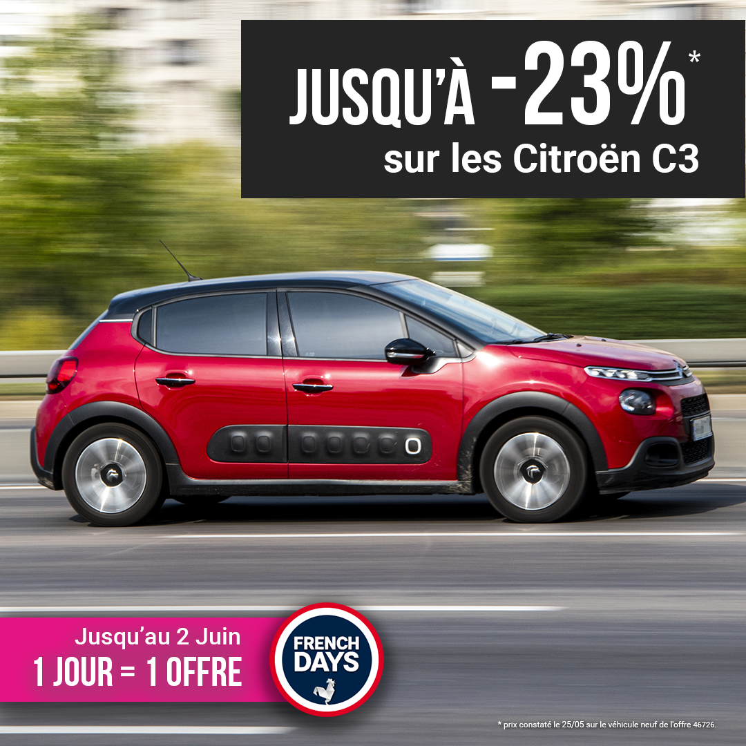 Citroën C3 offre french days