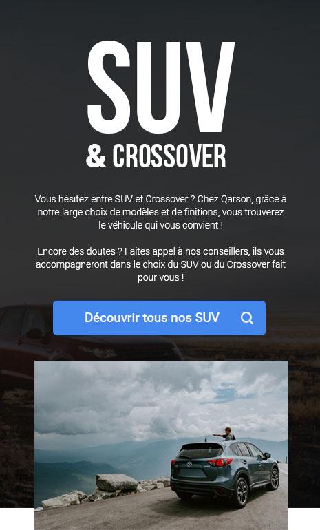 Bannière de la page SUV & crossover