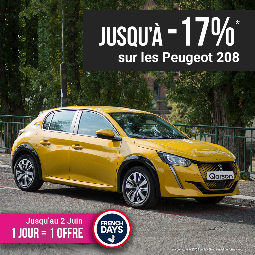 Peugeot 208 offre french days