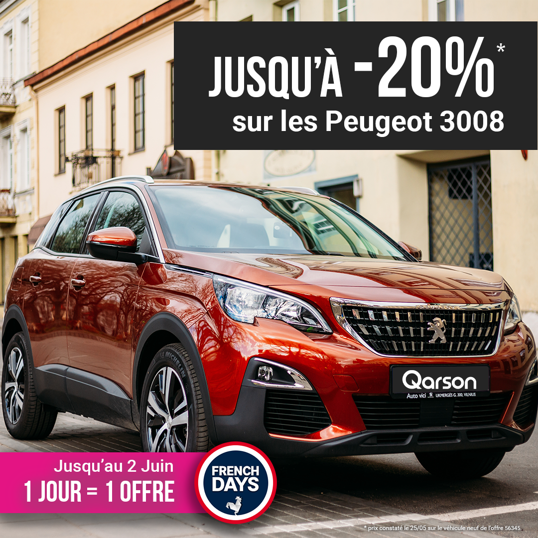 Peugeot 3008 offre french days